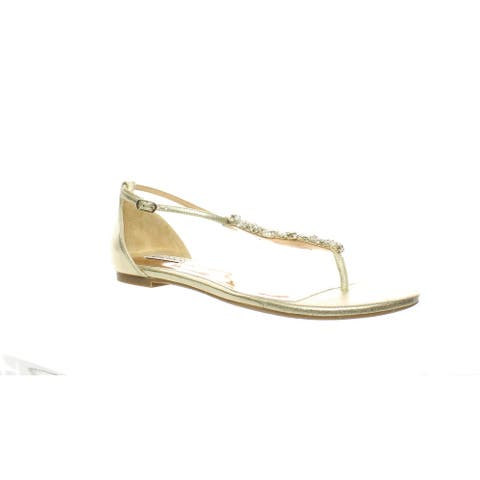 Badgley Mischka Womens Holbrook Platino Sandals Size 9