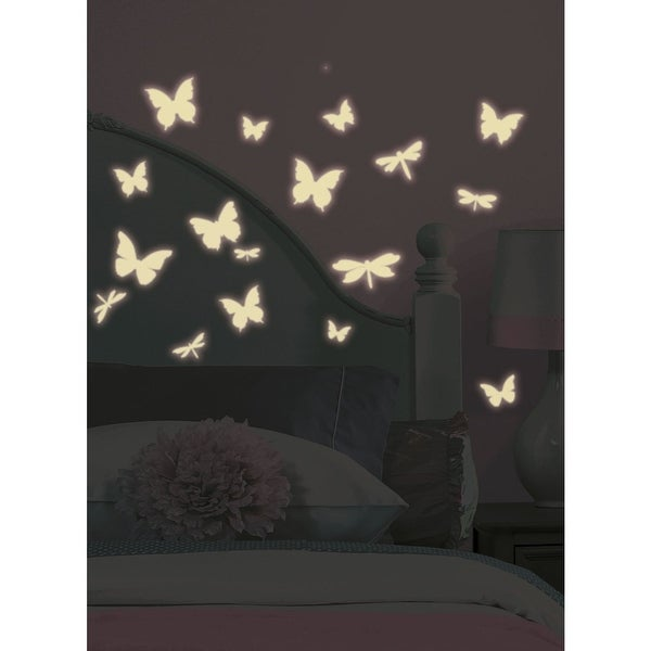 Roommates RMK1706SCS Butterfly and Dragonfly Wall Decals