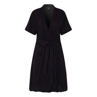 Richie House Women's Short Sleeve Cotton Bathrobe Robe