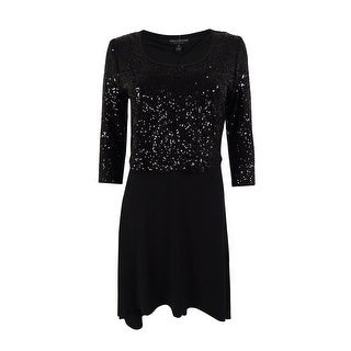 Karen Kane Women's Sequin-Top High-Low Dress - XS