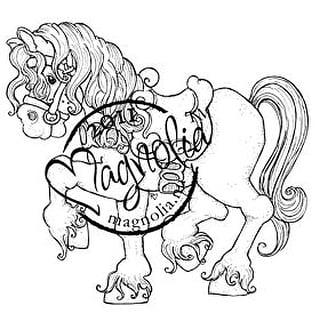 "Princes & Princesses Cling Stamp 6.5""X3.5"" Package-Tilda's Princess Horse"