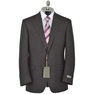 Canali Exclusive Silk and Cashmere Charcoal Check Sportcoat 44 Regular 44R Italy