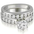 2.20 cttw. 14K White Gold Round Cut Diamond Engagement Set - Thumbnail 0