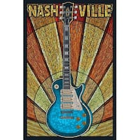 Nashville, TN - Guitar Mosaic - LP Artwork (Cotton/Polyester Chef's Apron)