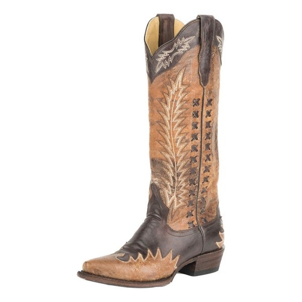 "Stetson Western Boots Womens Morgan 15"" Shaft Snip"
