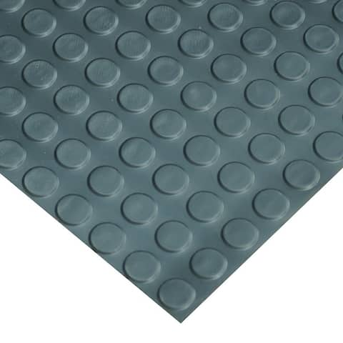 "Goodyear Coin-Pattern Rubber Flooring -- 3.5mm x 36"" x 4ft - Black - 36x48"