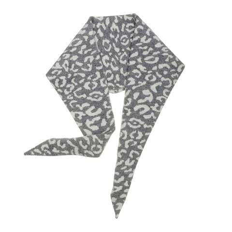 "Leopard Animal Rhombic Autumn Winter Neck Scarves Knit Scarf for Women - 36.22*12.60""(L*W)"