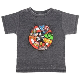 Marvel Comics The Avengers Superhero Power Shield Toddler Boys T-Shirt