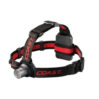 Coast 19291 HL4 Dual Color Headlamp Flashlight, Red/Clear, 144 Lumen