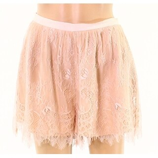 Keepsake Womens Small Floral Lace Mini Short Shorts