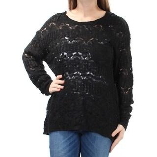 FRESHMAN FOREVER $24 Womens New 1309 Black Long Sleeve Sweater M Juniors B+B