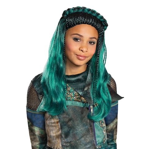 Girls Disney Descendants Uma Green Braids Wig - Standard - One Size