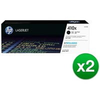 HP 410X High Yield Black Original LaserJet Toner Cartridge (CF410X)(2-Pack)