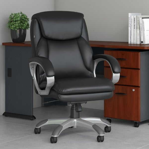 Bush Business Furniture Market Street High Back Leather Executive Office Chair. Opens flyout.