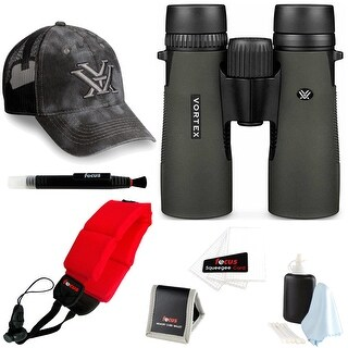 Vortex Diamondback 8x42 Binocular + Foam Float Strap Red + Accessory Kit