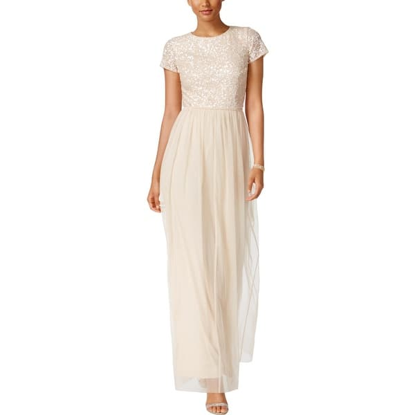 09ed2d62cdf035 Adrianna Papell Womens Special Occasion Dress Tulle Sequined - 4. Image  Gallery