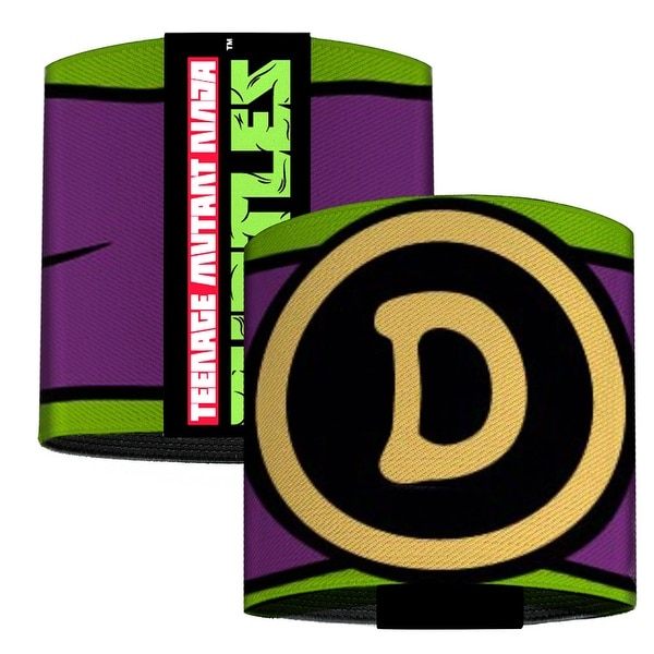 Donatello Belt Logo Green Purple Black Yellow Elastic Wrist Cuff