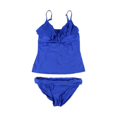 Kenneth Cole Womens Solid Brief 2 Piece Tankini