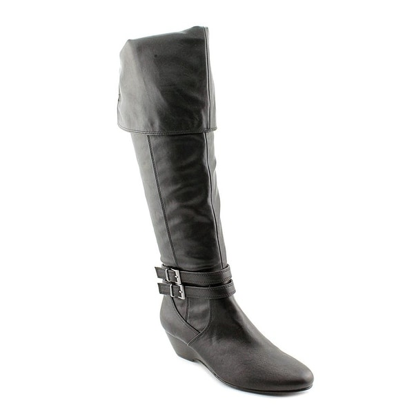 Alfani Women's Carrie Over the Knee Wedge Boots