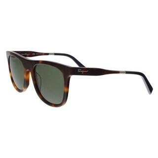 Salvatore Ferragamo SF864S 214 Tortoise Navigator Sunglasses - 55-21-145