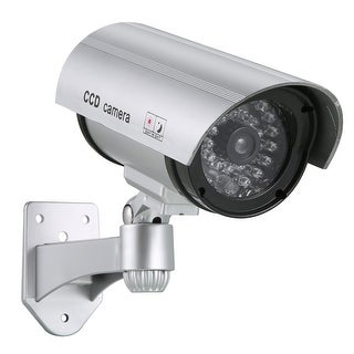 Dummy Security Camera with Flashing Red LED for Indoor and Outdoor Use