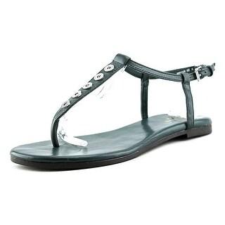 Cole Haan Effie Sandal Women Open Toe Leather Green Thong Sandal