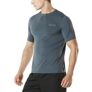 Tesla MTS04 HyperDri Short Sleeve Athletic T-Shirt - Heather Charcoal