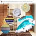 ZZ TI962-G Dual Voltage Travel Steam Iron with Stainless Steel Soleplate 1000 Watt, Blue - Thumbnail 3