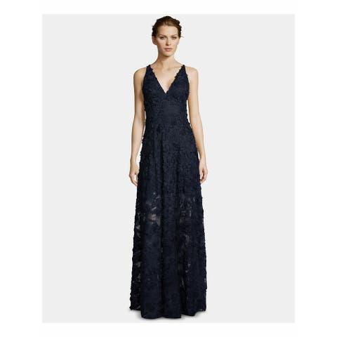 XSCAPE Navy Sleeveless Full-Length Dress Size 12P
