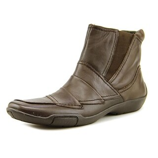 Ros Hommerson Claire Women N/S Round Toe Leather Brown Ankle Boot