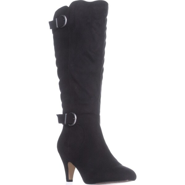 Bella Vita Toni II Wide Calf Knee-High Boots, Black Fabric - 9 ww us