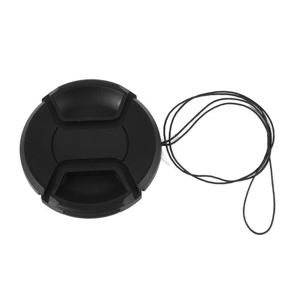 Unique Bargains Black 67mm Front Lens Cap Cover + String Replacement for Digital DSLR SLR Camara
