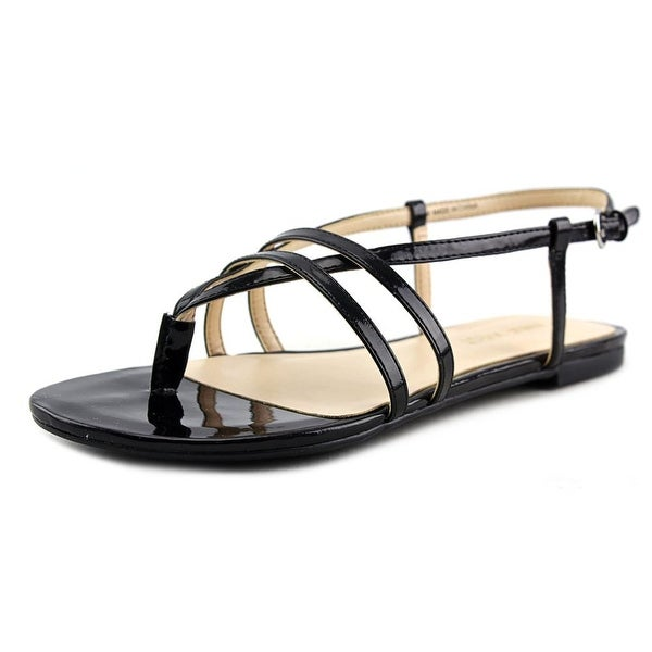Nine West Shmoopy Women Open-Toe Synthetic Black Slingback Sandal