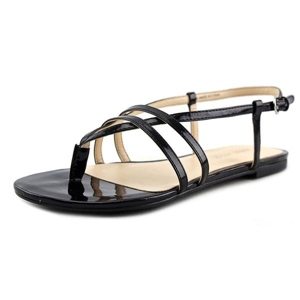 Nine West Shmoopy Women  Open-Toe Synthetic Black Slingback Sandal