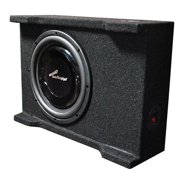 "Audiopipe single 10"" Shallow Mount Downfire Loaded Enclosure 400 Watts"