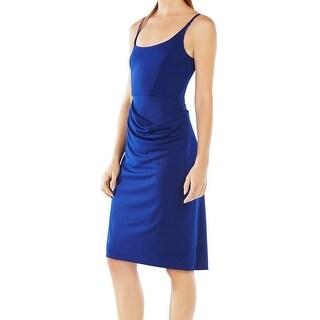 BCBGMAXAZRIA NEW Blue Womens Size Small S Drape Detail Sheath Dress