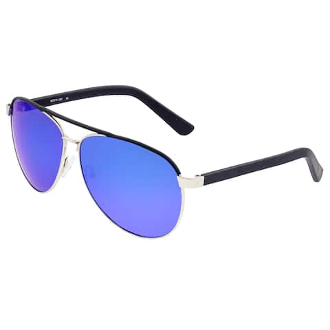 Sixty One Wreck Polarized Sunglasses - Silver/Blue - Blue