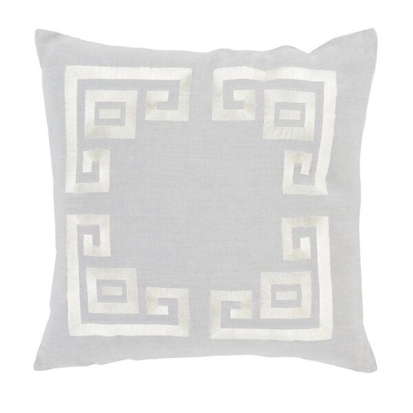 """""""20 Cool Gray and Lace Beige Contemporary Woven Decorative Throw Pillow"""