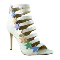Katy Perry Womens Kp0002 White Sandals Size 6