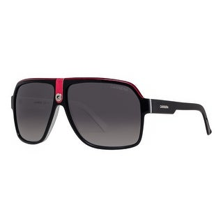 Carrera 33/S 8V4 WJ Shiny Black/Red/White Grey Gradient Aviator Sunglasses - shiny black crystal white - 62mm-11mm-140mm