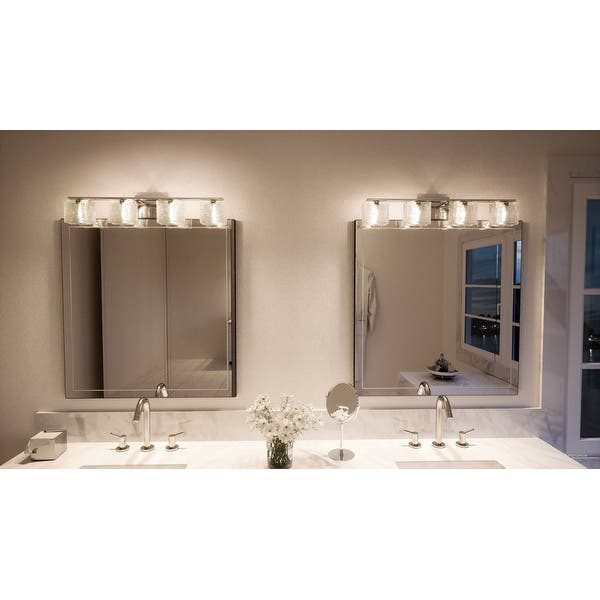 Shop Luxury Modern Bathroom Light 6 75 H X 32 W With Transitional Style Polished Chrome Finish Overstock 19478287,Kitchen Floor Plan Design Ideas