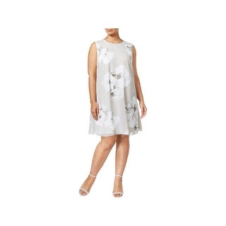 Calvin Klein Womens Plus Cocktail Dress Shift A-Line
