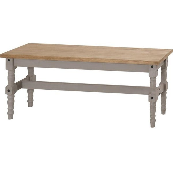 Manhattan Comfort Jay 47.25 in. Solid Wood Dining Bench in Gray Wash