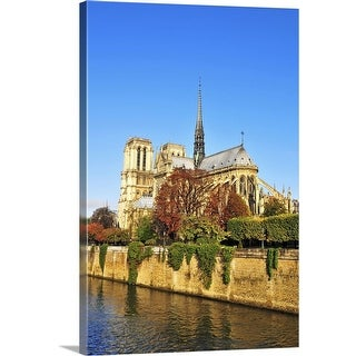 """""""Notre Dame cathedral, Paris, France"""" Canvas Wall Art"""