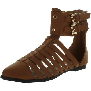 Nature Breeze Womens Kingston-02Hi Fashion Closed Toe Gladiator Sandal Shoes