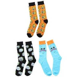 Rick and Morty OSFM Crew Socks, 1 Pair, Mr. Meeseeks - Blue