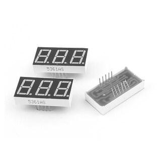 3 Pcs Common Cathode 11 Pin 3 Bit 7 Segment 0.56 Red LED Display Digital Tube