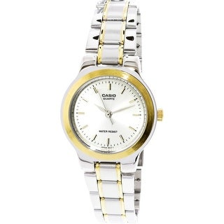 Casio Women's LTP1131G-9A Silver Stainless-Steel Japanese Quartz Fashion Watch