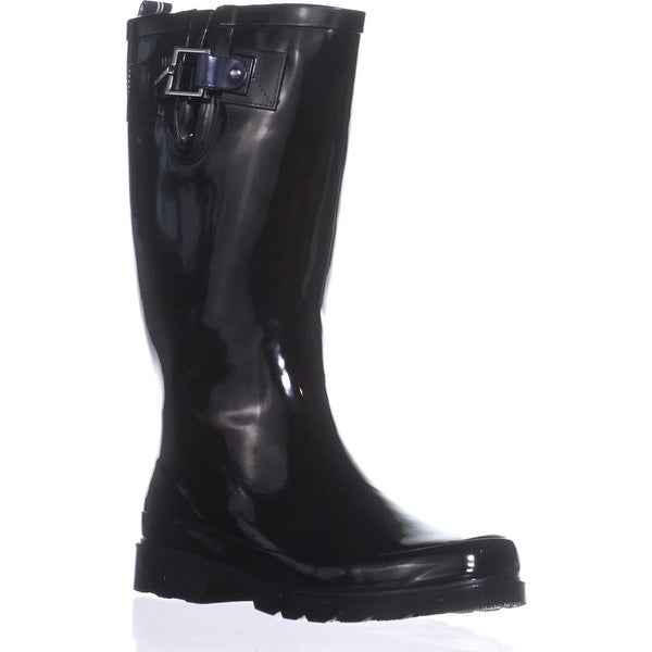 Nautica Finsburt Knee High Rain Boots, Black