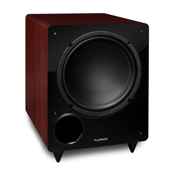 Fluance DB10MA 10-inch Low Frequency Ported Front Firing Powered Subwoofer for Home Theater & Music(Mahogany)
